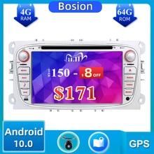 Autoradio 2 din Android 10.0 car dvd radio for Ford focus Mondeo s max Kuga c max wifi steering wheel control dab 4GB+64GB