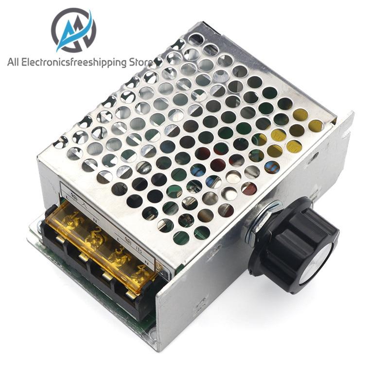 4000W AC 110V-220V SCR Adjustable Motor Speed Controller Control Dimming Dimmers Voltage Regulator Thermostat Import High-power