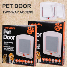 Дверь для кота дверь для животных 4 способ Запираемая дверь безопасности для собака, кошка, котенок настенное крепление дверь животное маленький кот люк для собаки