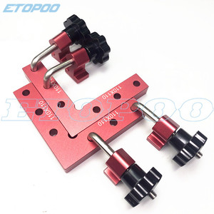 120mm Aluminum Square Right Angle 90 Degree L-shaped Auxiliary Fixture Positioning Panel Fixing Clip Woodworking Carpenter Tools