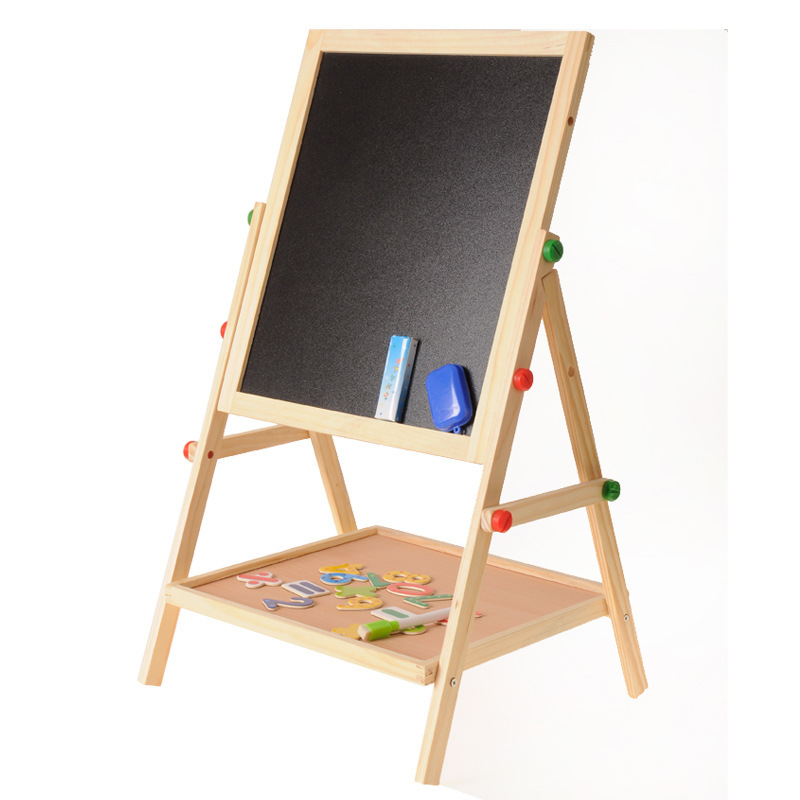 Children'S Educational Sketchpad Double-Sided Magnetic Small Blackboard Braced Household Drawing Graffiti Writing Board Baby Eas