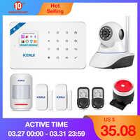 KERUI W18 aplikacja na android i ios bezprzewodowy GSM system alarmowy w domu SIM inteligentny alarmowy w domu włamywacza wifi IP kamera hd System alarmowy