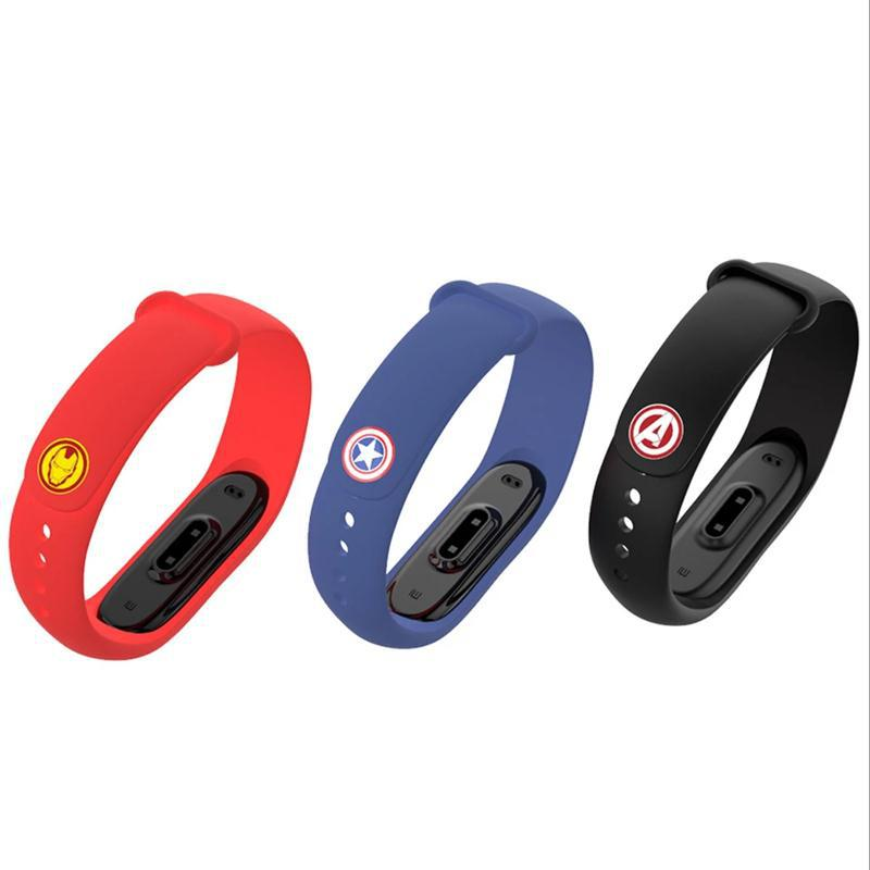 Marvel Avengers Bracelet For Mi Band 4 Strap For Xiaomi Mi Band 4 3 Nfc Smart Band Wristband Silicone Straps For Miband 4 / 3