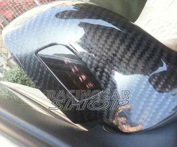 REAL CARBON FIBER MIRROR COVERS For AUD A4 S4 B8 A5 S5 8T 2008-2009 Lane Assist Type (Aid Led) 1pair  A079M 1