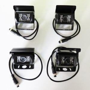 Image 3 - Lkw DVR Dash Kamera 4 Kanal Cam Backup Video Recorder Kit CCTV Rückansicht Monitor Auto Bus IR Nacht Vision visture D008