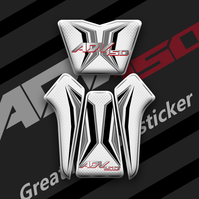 Motorcycle 3D Gel fuel tank decals tank side Protector racing <font><b>kit</b></font> <font><b>sticker</b></font> for <font><b>Honda</b></font> ADV150 adv <font><b>150</b></font> Tank Pad Decal Protector image