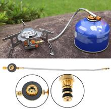 Hot Braided Hose Outdoor Gas Stove Burner Furnace Connector Gas Tank Adapter Valve for Outdoor Camping Cooking Equipment New цена 2017