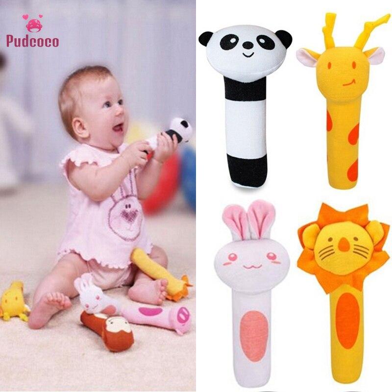 Pudcoco drôle enfants bébé doux son Animal clochettes hochets lit cloches développement jouet cadeaux pour enfant Bebe 2020 girafe lapin