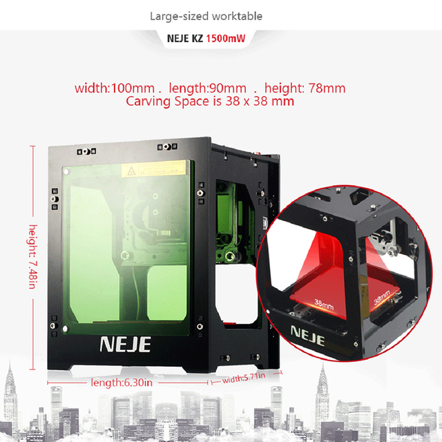 NEJE Professional Mini Laser Engraver Cutter Engraving Wood Cutting Machine Router Off-line Cnc Router DK-8-KZ 1000/1500/3000mW