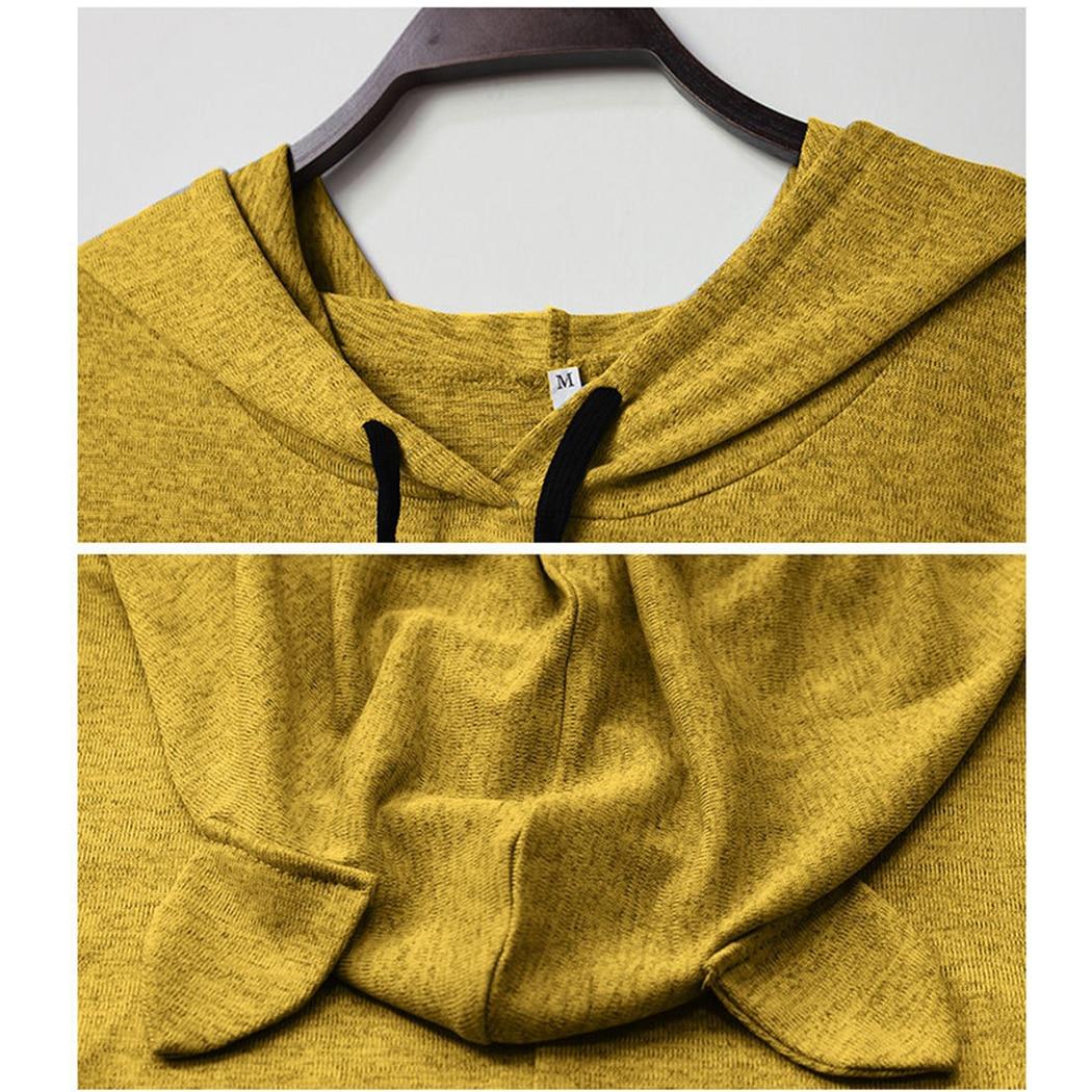 Leuke Kat Gedrukt Oversized Onregelmatige Hooded Jassen Vrouwen Streetwear Harajuku Lange Mouwen Midi Hoodies Vrouwelijke Sweatshirts Tops - 6