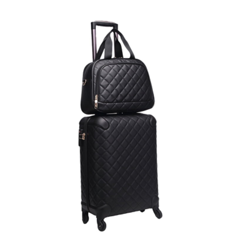 High-end Luxury 16/20/24/28 Inch Perfect Boarding Female Handbag +Rolling Luggage Spinner Brand Travel Suitcase
