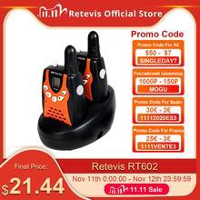 Retevis RT602 walkie talkie ricaricabile per bambini 2 pezzi radio per bambini 0.5W con batteria compleanno regalo di natale Walkie Talkie