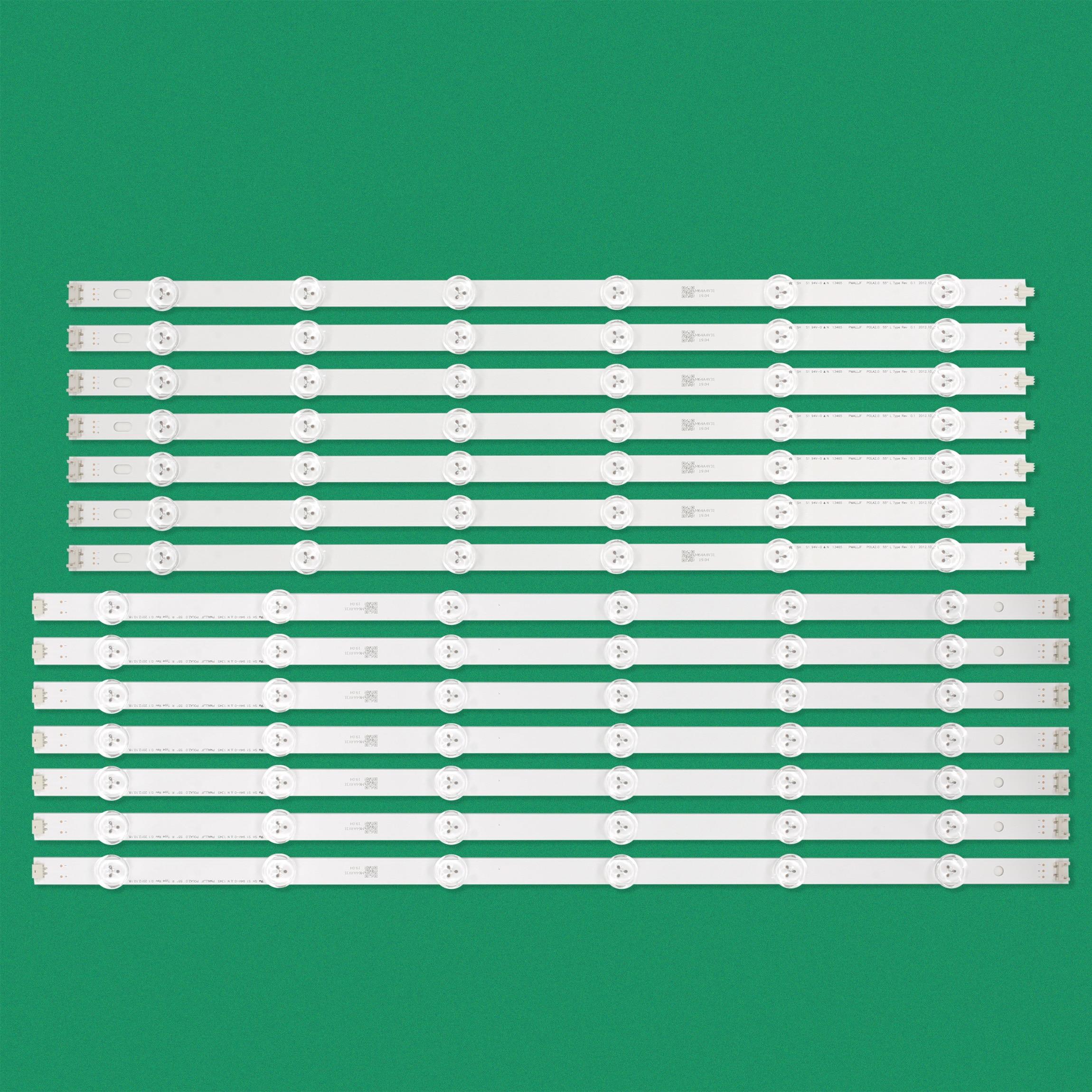 14 PCS set LED backlight strip for LG POLA 2 0 55 55LA613S ZB 55LA6136 ZB