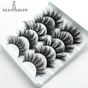 Image 1 - SEXYSHEEP 5pair 3D Faux Mink Eyelashes Natural False Lashes Wispy Makeup Beauty Extension Tools maquiagem faux cils