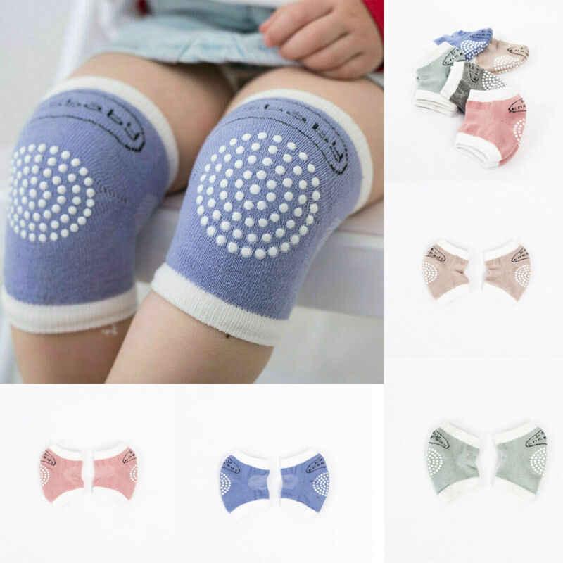 2019 accesorios para bebés, niños, niñas, bebés, niños, gateando, antideslizantes, rodilleras, calcetines Unisex para bebés, niños pequeños seguridad