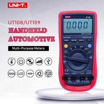UNI-T UT109 Automotive Multimeter;AC DC volt Current Ohm meter;Capacitance Temperature test;Engine speed Measure RS232 interface цена 2017