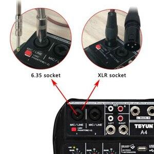 Image 5 - A4 konsola miksowania dźwięku bluetooth USB rekord odtwarzanie komputera zasilanie Phantom 48V opóźnienia Repaeat efekt 4 kanały USB mikser audio