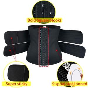 Image 3 - Mulheres cintura trainer cinto duplo sauna workout neoprene cintura cincher abdominal trimmer cinto ganchos de perda de peso correias mais tamanho