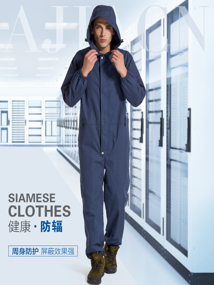 Stainless Steel Fiber Electromagnetic Radiation Protective Suit ,workwear,computer EMR Clothing,EMF Shielding Work Clothes