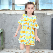 Kids Dresses for Girls Cotton Off Shoulder Casual Girls Summer Dress 2 3 4 5 6 7 8 Years Children Clothing Summer Girls Clothes summer casual girls dresses cotton page 5 page 4