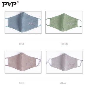 Image 4 - PVP * כותנה שחור פה פנים אנטי אבק הדפסה מסנן Windproof פה מופל עבור גברים נשים שחור אופנה חם