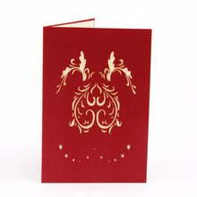 цена на 3D Pop Up Greeting Postcards Birthday Gift Cards Red Heart Festival Card Vintage Invitation Marriage Love Letters Messages