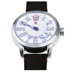 Czerwona gwiazda mechaniczny mężczyzna 42MM Pilot zegarek mechaniczny automatyczny skoki godziny TianJin ST17 ruch Solo ręce szalony Freak styl