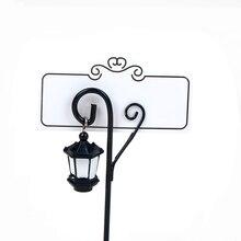 1 ud. Mesa de luz de calle Vintage para boda, marcador, Clips, caballete, número de sitio, tarjeta de foto, soporte, decoraciones en miniatura