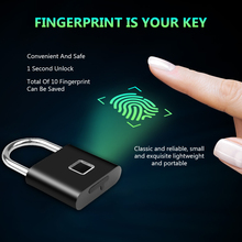 Tragbare Smart Fingerprint Lock Elektrische Biometrische Türschloss USB Aufladbare IP65 Wasserdicht Hause Tür Tasche Gepäck Fall Schloss
