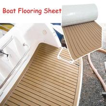 600x2400x5mm EVA Foam Faux Teak Boat Deck Mat Brown Decking Sheet Yacht pavimentazione antiscivolo tappetino autoadesivo Pad veicolo