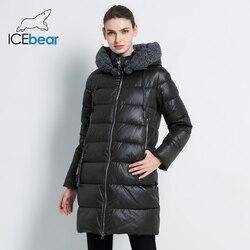 Icebear 2019 Nuove Donne di Inverno Del Cappotto Del Rivestimento Sottile Inverno Trapuntato Cappotto Lungo di Stile Cappuccio Sottile Parka Ispessisce Tuta Sportiva GWD19600I