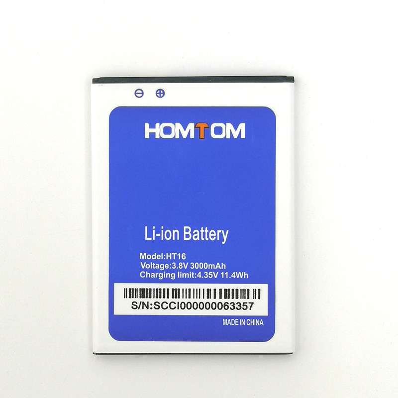 100% NEW 3000mAh Battery For <font><b>HOMTOM</b></font> HT16/HT16 <font><b>PRO</b></font> Mobile Phone High Quality Newly produced Battery+Tracking Number image