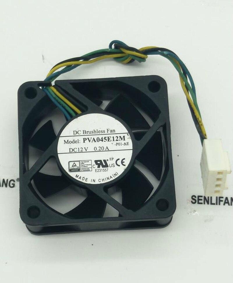 Free Shipping For  PVA045E12M -P01-AE DC 12V 0.20A 45x45x15mm Server Cooler Fan