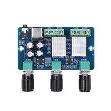 XH A355 Yamaha 2,1 канальный стерео аудио цифровой усилитель мощности плата Бас Сабвуфер AMP 10WX2 + 20 Вт домашний кинотеатр