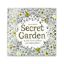 24 Pages English Edition Anti Secret Garden Coloring Books for Adults Kids Painting Drawing Art Book Kill Time Colouring Book