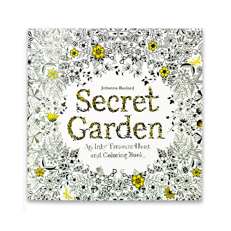 24 Pages English Edition Secret Garden Coloring Books For Adults Children Relieve Stress Hand Painted Graffiti Drawing Book