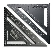 Gorąca sprzedaż stopu aluminium 7 Cal kątomierz wskaźnik kątowy zestaw kwadratowy pomiar trójkątne płyty władca studentów piśmienne tanie tanio 34739 Other Linijka Linijka trójkątna