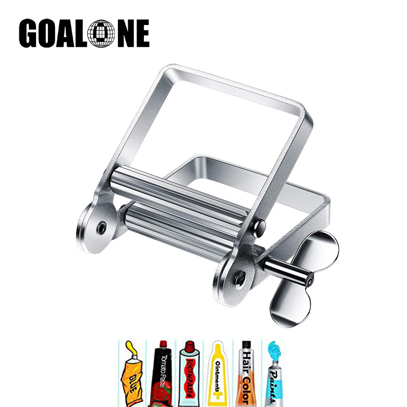Goalone Metal Toothpaste Squeezer Dispenser Toothpaste Tube Roller Wringer for Hair Salon Hand Cream Artist Paint Tube Cosmetics in Toothpaste Squeezers from Home Garden