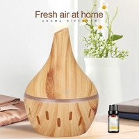 USB Holz Korn Ätherisches Öl Diffusor Ultraschall luftbefeuchter Haushalt Aroma Diffusor Aromatherapie Nebel Maker mit Licht-in Luftbefeuchter aus Haushaltsgeräte bei