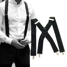 Bretels 50 мм широкие для мужчин X-Back X shape сверхмощные брюки подтяжки с зажимами рубашка держатель Tirantes подтяжки