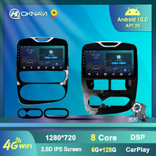 10 Polegada rádio do carro para renault clio 4 2012-2018 android 9.0 reprodutor de vídeo multimídia navegação gps faixa apoio 4g wifi dvr bt