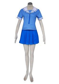 Disfraz de Cosplay de verano uniforme escolar femenino Azumanga Daioh