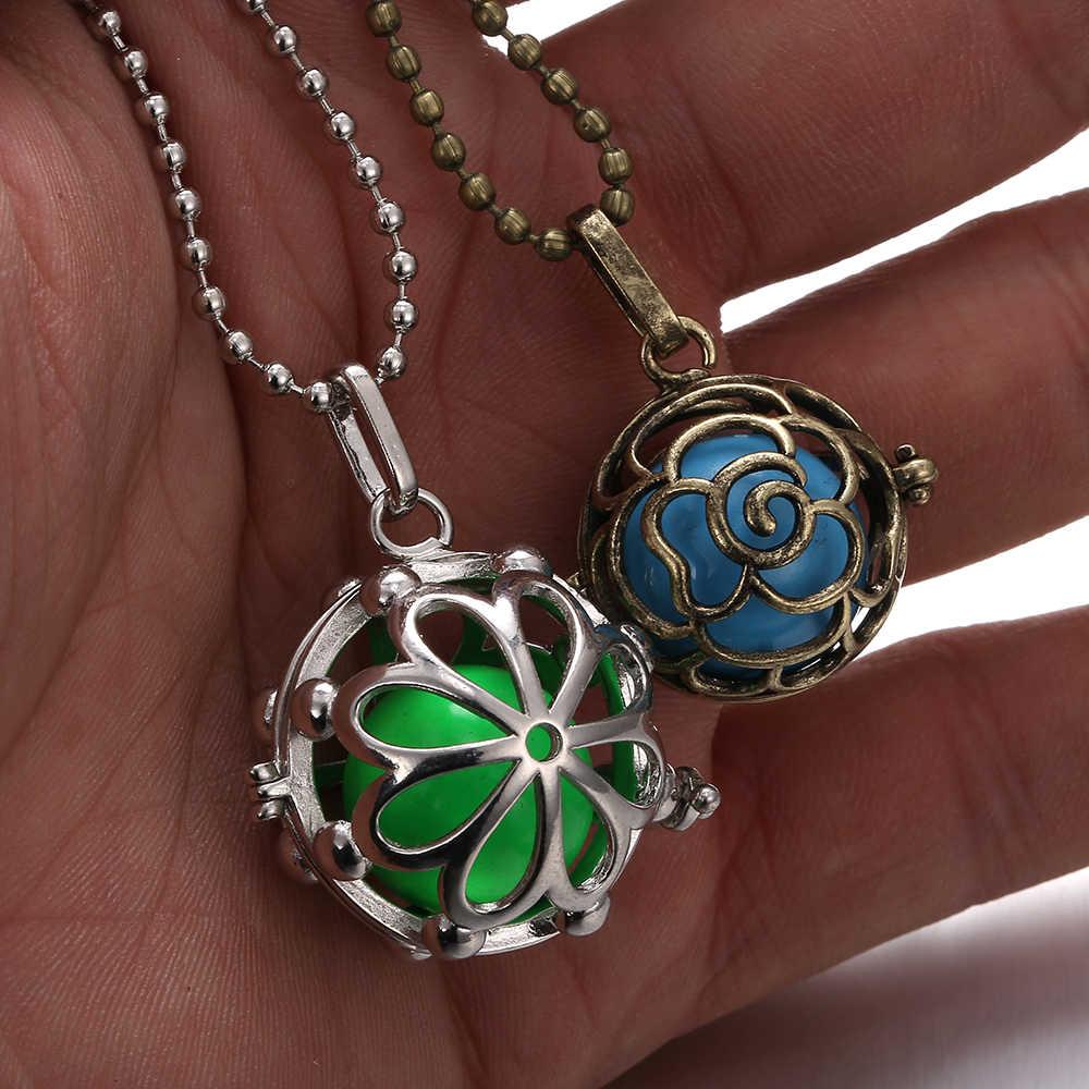 Meksika Chime müzik melek topu arayan madalyon kolye Vintage gebelik kolye aromaterapi için uçucu yağ hamile kadınlar
