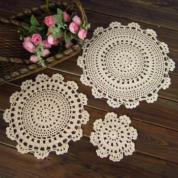 Vintage Crochet Cotton Placemat Cup Mug Coasters Table Tea Coffee Cushion Pad image