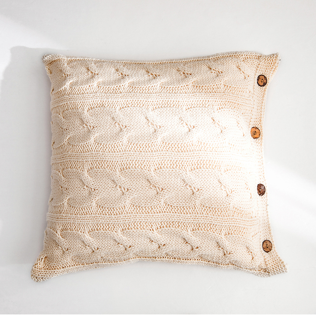 Cream Nordic Knitted Cushion Covers 4