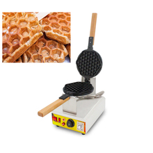 SUCREXU Commercial Nonstick Electric Honeycomb Shape Waffle Pops Machine Egg Waffles Sticks Maker Iron Baker 110v 220v  CE стоимость