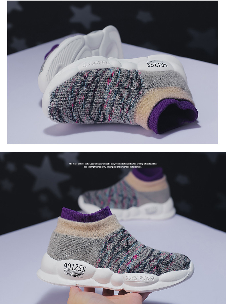 PINSEN 2019 Spring Autumn Children Sneakers Girls Shoes Fashion Kids Shoes Mesh Breathable Child Socks Shoes Boys Casual Shoes (14)