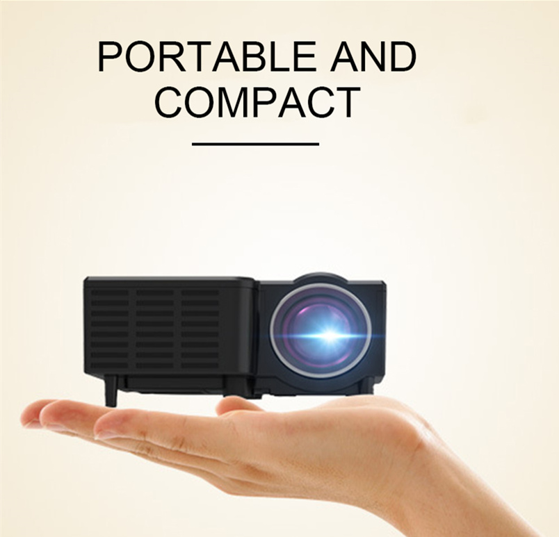 UNIC UC28CB Projector Supports USB, TF, AV Interface Supports Wired Mobile Phone With The Same Screen Frequency + Bluetooth
