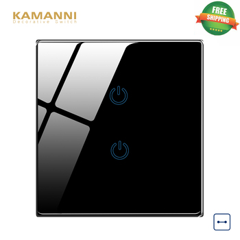 цена на Kamanni Electrical Light Switches Touch Wall Switches 2 Gang US Standard Touch Switch 220V 1/2/3/4 Gang 1/2 Way Led Switches
