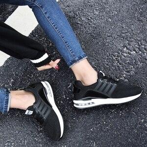 Image 4 - Flarut Men Tennis Shoes Air Cushion Lace Up Men Sport Shoes Breathable Mesh Sneakers Black Tenis Hombre Trainers Athletic Shoes